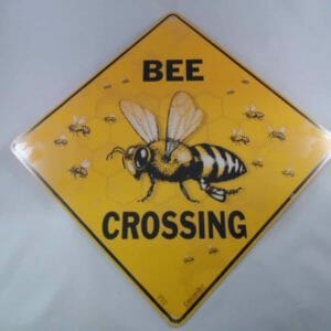 Sign Bee Crossing