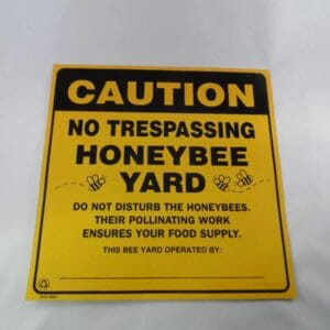 Sign Honeybee Yard